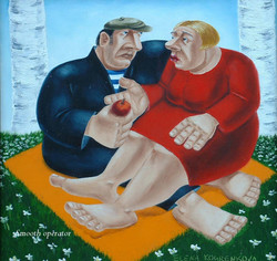quirky humorous romantic painting
