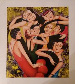 artdeco dance art print by artist