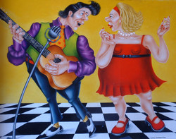 quirky dance and music painting