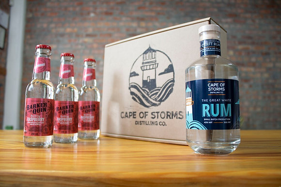 The Great White Rum - Barker & Quin Sparkling Raspberry Home Tasting Kit