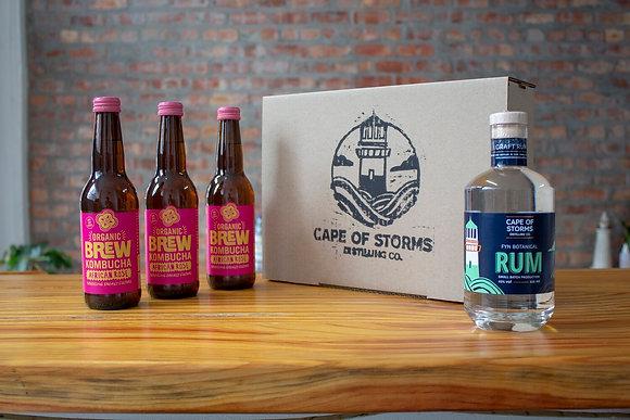 Fyn Botanical Rum - Brew Kombucha African Rose Home Tasting Kit