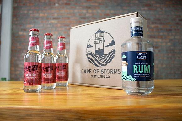 Fyn Botanical Rum - Barker & Quin Sparkling Raspberry Home Tasting Kit