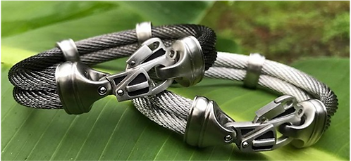 Double Live Wire Cable Bracelet with Rescue Clasp®