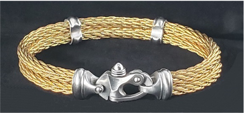 PVD Nouveau Braid® Cable Bracelet with Mariner's Clasp®
