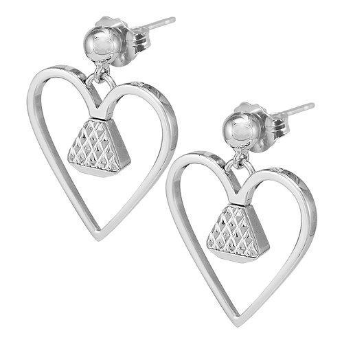 "Equine .75"" Dangle Earrings - Silver"