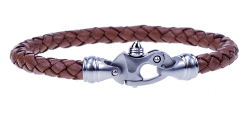 Bolo Braid Leather Bracelet with Mariner's Clasp®