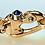 Thumbnail: Nouveau Braid® Double Cable Bracelet with 14K Gold Mariner's Clasp® and Caps