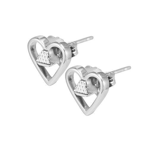 "Equine .25"" Post Earrings - Silver"