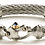 Nouveau Braid® Double Cable Bracelet with Mariner's Clasp® and 14K GoldAccents White Ice, Guy Beard Designs