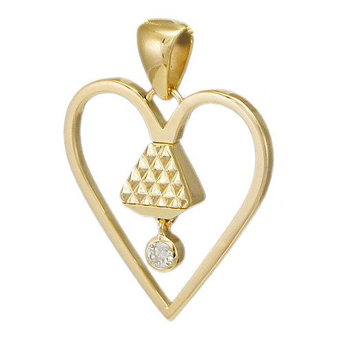 "Equine14K 1""Diamond Pendant - Gold"