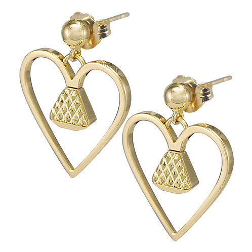 """Equine14K .75"""" Dangle Earrings - Gold"""