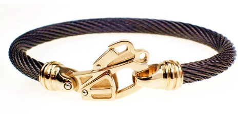 Live Wire Cable Bracelet with 14k Gold Rescue Clasp®