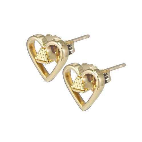 """Equine14K .25"""" Post Earrings - Gold"""