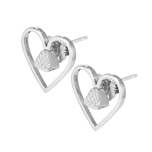 "Equine .5"" Post Earrings - Silver"