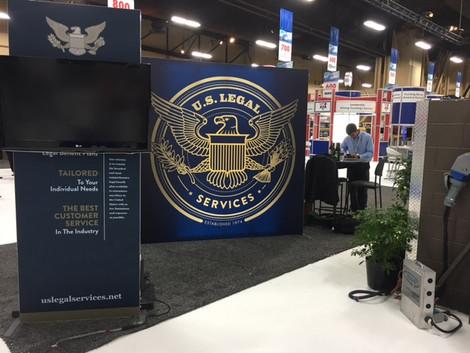 U.S. Legal Services tradeshow exhibit