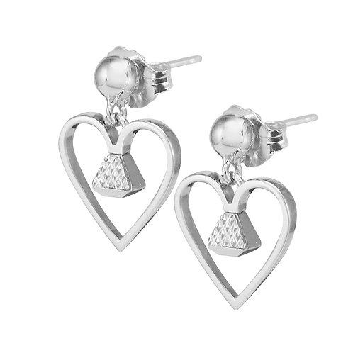 "Equine .5"" Dangle Earrings - Silver"