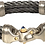Nouveau Braid® Double Cable Bracelet with Mariner's Clasp® and 14K GoldAccents Black Ice, Guy Beard Designs