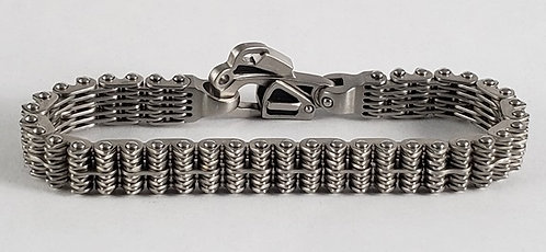 Helicopter Rotor Chain and Rescue Clasp Bracelet, jewelry inspired by passion,  Guy Beard Designs