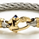 Thumbnail: Nouveau Braid® Cable Bracelet with Gold Mariner's Clasp® and Ferrules