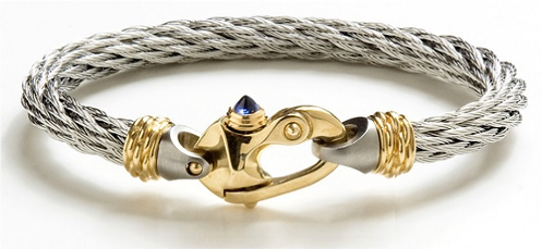 Nouveau Braid® Cable Bracelet with Gold Mariner's Clasp® and Ferrules
