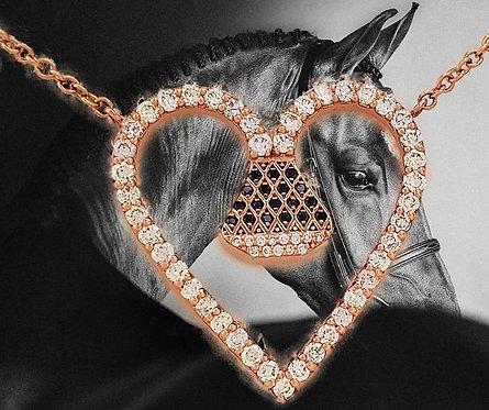 "Equine14K 1"" Diamond Encrusted Pendant"