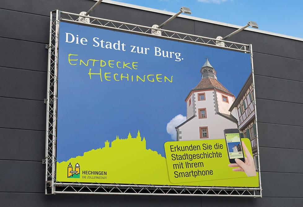 Arbeitsbeispiel von Wolfwerbeagentur für die Stadt Hechingen