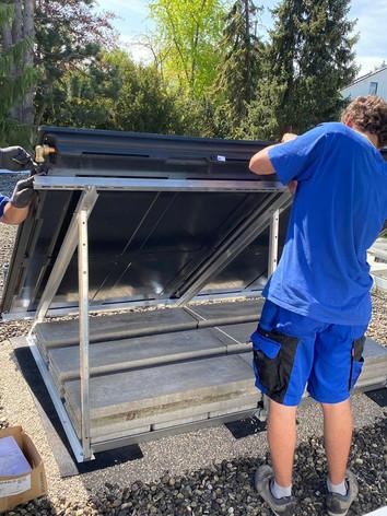 Solar Aufständerung auf Flachdach