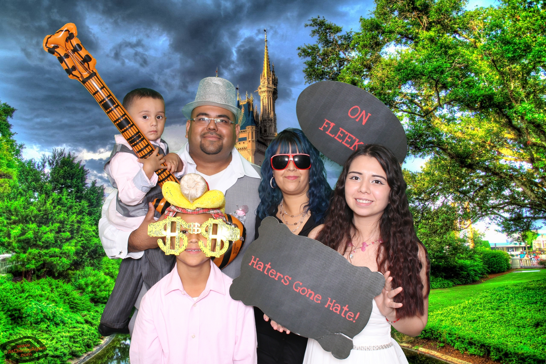 family fun at the selfie station
