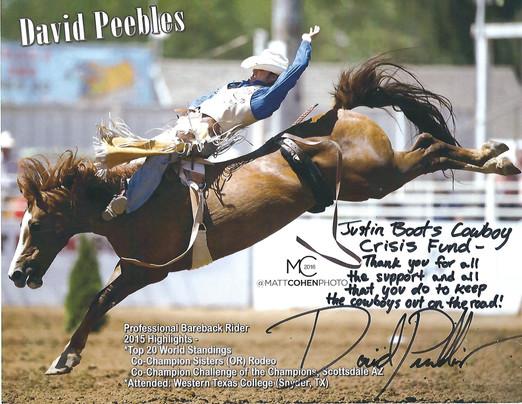 David Peebles - PRCA Bareback Rider