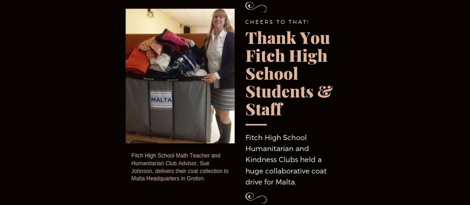 Fitch High School Students Collect Coats for Malta