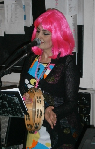 Leah-pink wig-singing solo