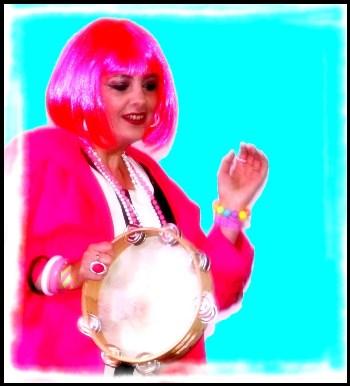 Leah-pink wig-60s band Kent