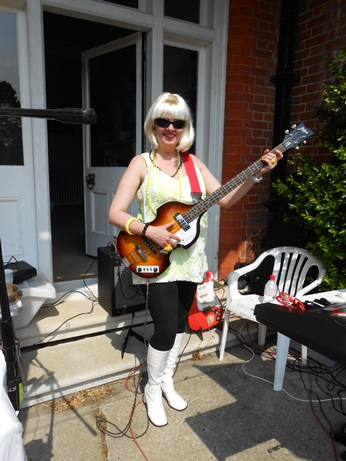 Swinging 60s band outdoor gig