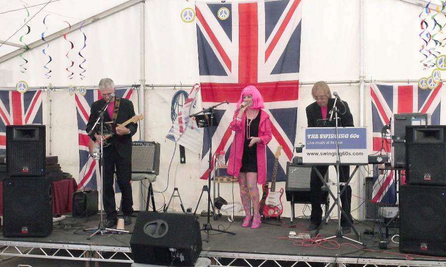 The Swinging 60s band on stage