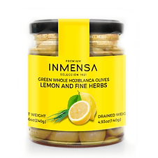 Hojiblanca olives with lemon and fine he