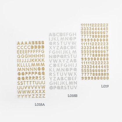Sticker chữ & số size nhỏ