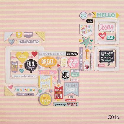 Sticker dày - Be Happy