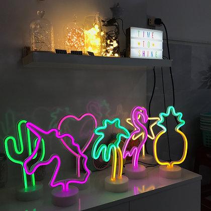 Đèn Neon Để Bàn