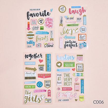 Sticker dày - chủ đề Together
