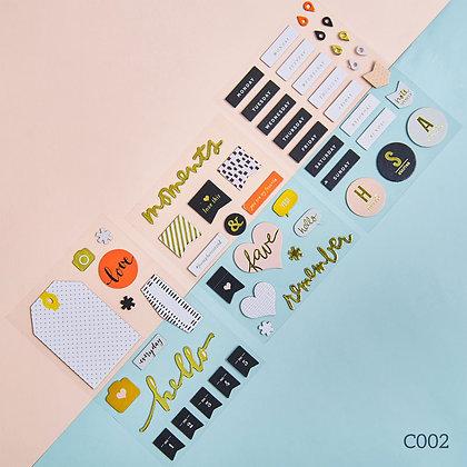 Sticker dày - chủ đề Moment