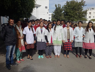 Students of Govt.  Senior Secondary School Dadahu visited Dental College Paonta Sahib