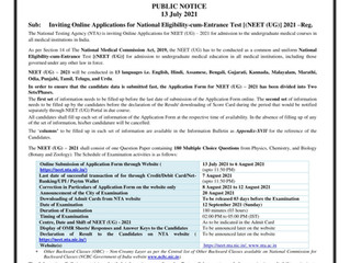 How to apply for NEET UG 2021- Step by Step