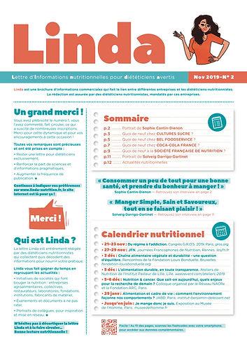 Linda N°2 - Lettre nutrition pour diététiciens
