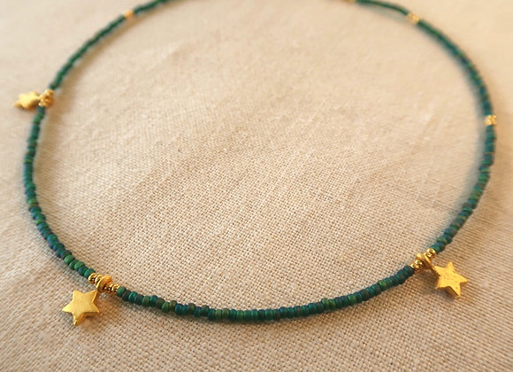 3 Stars Gold - Emerald Green