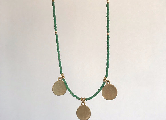 Gold hammered coins - Green