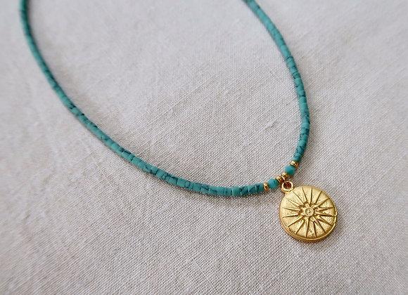 Turquoise Sundial Necklace