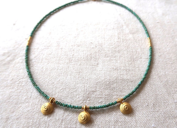 3 Gold Coins - Turquoise