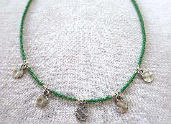 5 Silver Coins - Green