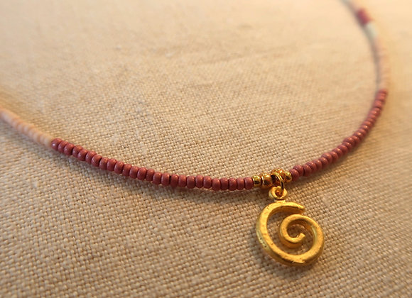 Gold Spiral - Pink