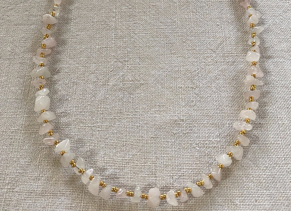 Rose Quartz Crystal Necklace